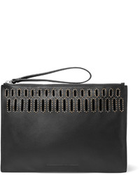 McQ by Alexander McQueen Mcq Alexander Mcqueen Studded Cutout Leather Clutch