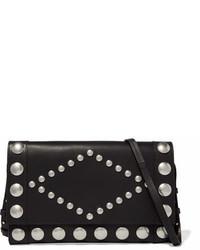 Isabel Marant Nicia Studded Leather Shoulder Bag Black
