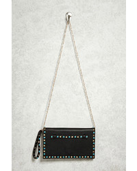 Forever 21 Studded Faux Leather Clutch
