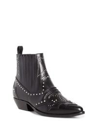 Roseanna Studded Leather Western Boot