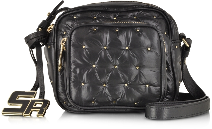 cb27f906afae ... Studded Leather Crossbody Bags Sonia Rykiel Alban Black Nylon Wgolden  Studs Crossbody Bag ...