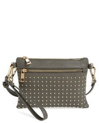 Sole Society Anita Studded Faux Leather Crossbody Bag Black