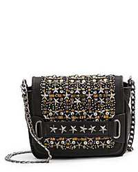 Ash Fox Studded Leather Crossbody Bag