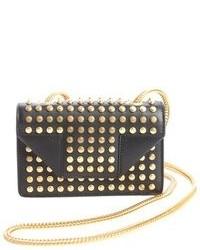 Saint Laurent Black Leather Mini Betty Studded Detail Small Shoulder Bag