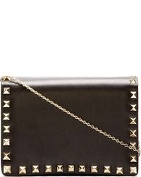Valentino Black Leather Rockstud Crossbody Bag