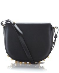 Alexander Wang Black Leather Studded Lia Bag