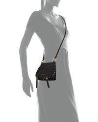 ... Burberry Bridle Baby Studded Leather Shoulder Bag Black ... 8f7de984fbc62