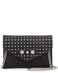 Brian Atwood Danielle Nicole Tina Studded Crossbody Bag Black