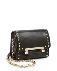 Diane von Furstenberg Highline Micro Mini Studded Crossbody Bag Black