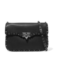 Valentino Garavani The Rockstud Rolling Textured Leather Shoulder Bag