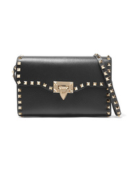 Valentino Garavani The Rockstud Small Textured Leather Shoulder Bag
