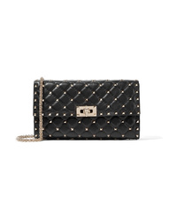 Valentino Garavani The Rockstud Spike Quilted Leather Shoulder Bag