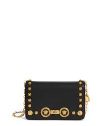 Versace Icon Studded Leather Crossbody Bag