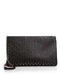 Christian Louboutin Loubiposh Studded Leather Clutch