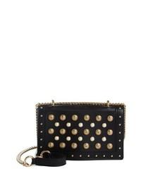 Balmain Love Studded Leather Shoulder Bag