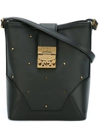 MCM Gold Tone Studded Crossbody Bag
