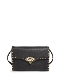 Valentino Garavani Medium Rockstud Leather Messenger Bag