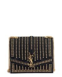 Saint Laurent Medium Sulpice Studded Leather Shoulder Bag