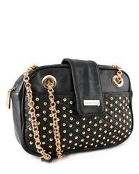 Miadora Handbags Collection Miadora Juliana Black Studded Shoulder Bag