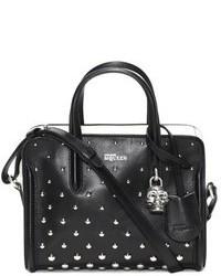 Alexander McQueen Mini Padlock Studded Leather Duffel Bag