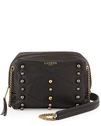 Lanvin Mini Sugar Studded Crossbody Bag Black