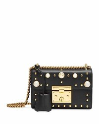 Gucci Padlock Small Studded Leather Shoulder Bag Blackmulti