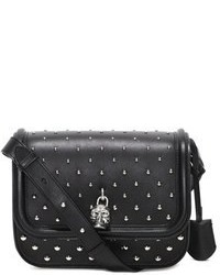 Alexander McQueen Padlock Studded Leather Crossbody