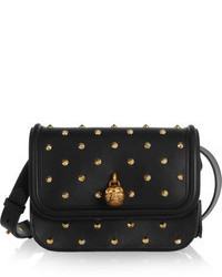 Alexander McQueen Padlock Studded Leather Shoulder Bag
