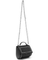 Givenchy Pandora Box Mini Studded Leather Shoulder Bag Black