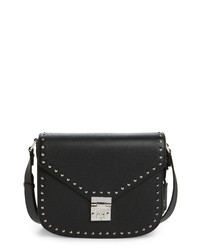 MCM Patricia Studded Outline Leather Shoulder Bag