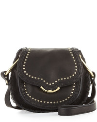 Cynthia Rowley Phoebe Studded Leather Crossbody Bag Black