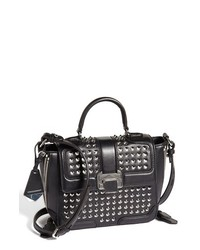 Rebecca Minkoff Elle Mini Studded Crossbody Satchel Black