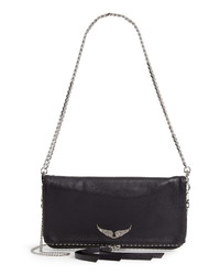 Zadig & Voltaire Rock Studded Pebbled Leather Crossbody Bag