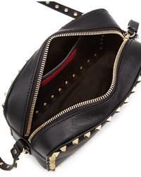 Valentino Rockstud Camera Crossbody Bag Black