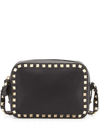 Valentino Rockstud Camera Crossbody Bag Black