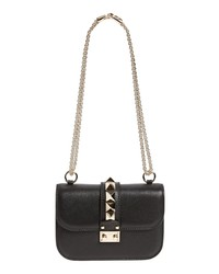 Valentino Garavani Rockstud Small Lock Leather Crossbody Bag