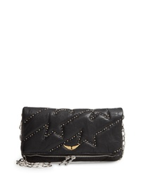 Zadig & Voltaire Rocky Studded Leather Shoulder Bag