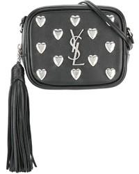Saint Laurent Monogram Blogger Studded Crossbody Bag