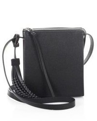 Elizabeth and James Sara Caviar Leather Crossbody Bag