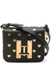 Sophie Hulme Heart Studded Cross Body Bag