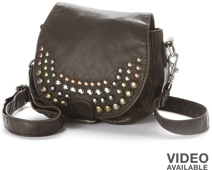 85e471babb9 ... Black Studded Leather Crossbody Bags Mudd Studded Flap Crossbody Bag ...