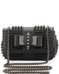 Christian Louboutin Sweet Charity Small Spiked Crossbody Bag Black