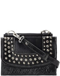 American West Texas Two Step Studded Shoulder Flap Crossbody Bag