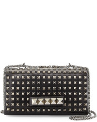 Valentino Va Va Voom Noir Studded Shoulder Bag Black