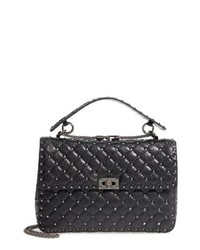 Valentino Garavani Vitello Rockstud Lambskin Leather Shoulder Bag