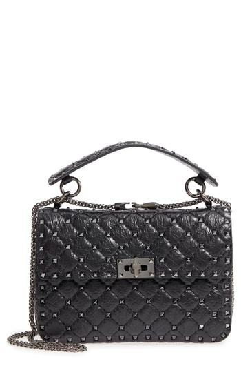 Valentino Garavani Vitello Rockstud Lambskin Leather Shoulder Bag