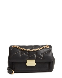 Zadig & Voltaire Ziggy Studded Leather Shoulder Bag