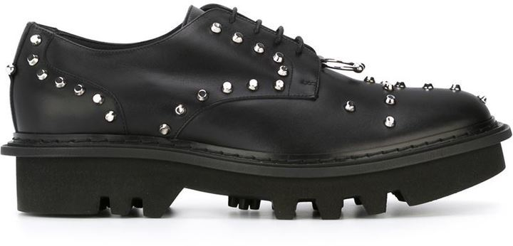 Neil Barrett Pierced Punk Derby Shoes   Where to buy   how to wear 99c4c2741914