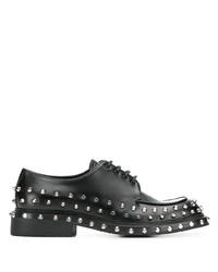Prada Stud Embellished Derby Shoes