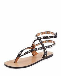 Audrio studded multi strap sandal black medium 949591